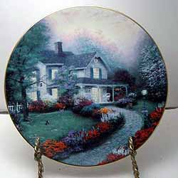 A beautiful plate from artist Thomas Kinkade. Entitled Home Sweet Home itu0027s the first issue in the Home Is Where the Heart Is collection limited ed. from ... & Home Sweet Home Collector Plate by Thomas Kinkade