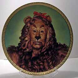 This plate is entitled Cowardly Lion fifth issue in the Portraits from Oz collection by Hamilton. Dated 1989 and issued in a limited edition of 14 firing ... & Cowardly Lion Portrait Plate The Wizard of Oz
